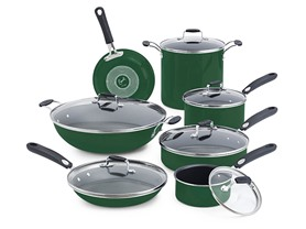 Emeril 13-Pc. Cookware Set Green