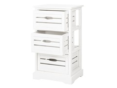 Samara 3 Drawer Cabinet - Cream