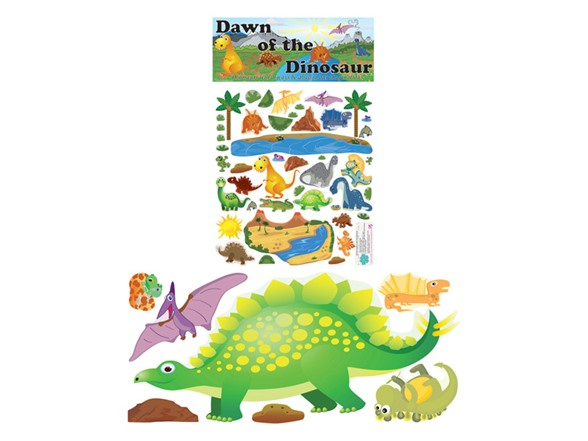 Dinosaur room redecorate kit kids toys for Dinosaur mural kit