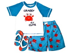 Crabby But Cute Swimsuit Set (12M-4T)