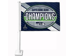 Super Bowl Champions Seahawks Car Flag