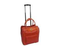 Rolling Laptop Case-Orange