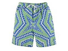 Green Geo Tile Board Shorts (5Y-7Y)