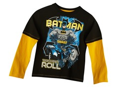 Batman Long Sleeve Tee - Black (4-7)
