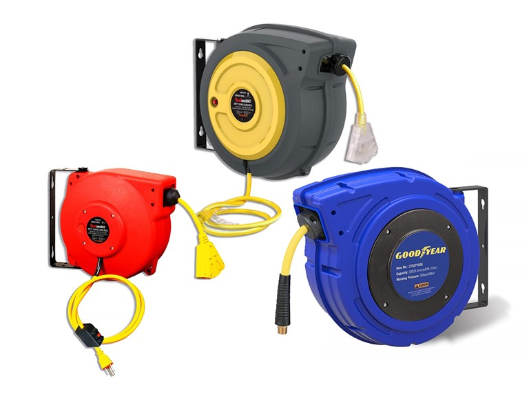 Extension Cord and Air Hose Reels