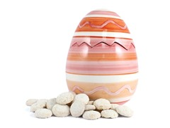 Pink Easter Egg Cookie Jar with 2 8oz Key Lime Coolers