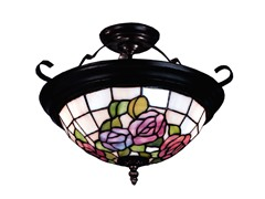 Dale Tiffany Rose Simi Flush Mount