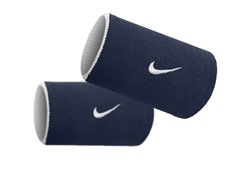 Premier Doublewide Wristbands - Navy/White