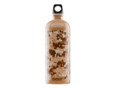 Desert Camo 1-Liter Bottle, Brown