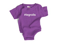 """#legrolls"" Purple Bodysuit (0-6 mos)"