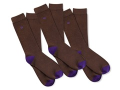 Kings Underwear Business Socks 3-Pack, Royal Brown