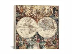World Map I 18x18