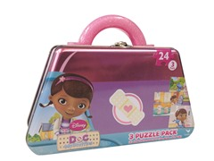 Doc McStuffins Puzzle in Shaped Tin