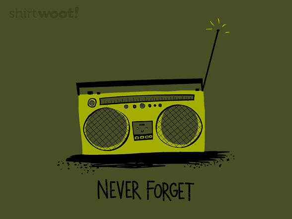 Remember the Boombox XQ98742w