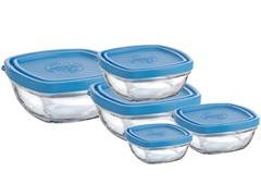 Lys Square Bowl 5pc Set with Lids