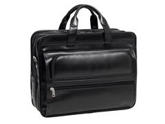 """Elston Leather Double Compartment 17"""" Laptop Case"""