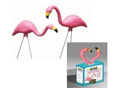 Two Flamingo Artwork, Pink