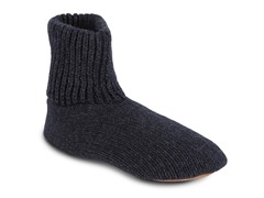 Morty Men's Ragg Wool Slipper Socks, Nvy