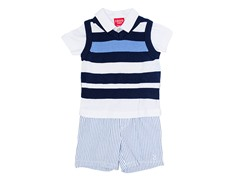 Navy 3-Piece Sweater Vest Set (3-24M)