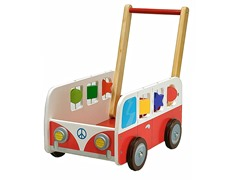 Dushi Wooden Motor Bus Push Car