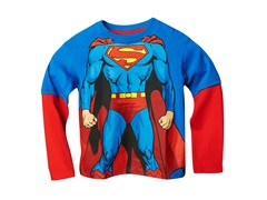 Superman Long Sleeve Tee - Blue (2T-7)
