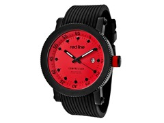 Red Dial with Black Silicone Band