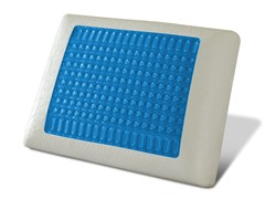 Cool Gel Top Memory Foam Pillow - Blue