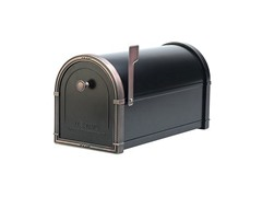 Coronado Mailbox Black with Antique Copper