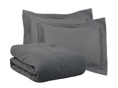 Hyannis Graphite 3pc Duvet Set - 4 Sizes
