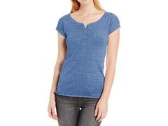 Unionbay Juniors Strmy Jsy Caryn Hnly Shirt, Blue