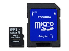 4GB Class4 microSD Card w/SD Adapter