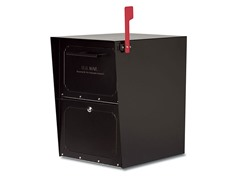 Locking Oasis Post Mailbox, Black
