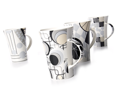 Signature Geometric Mugs - Set of 4