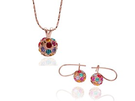 Rose Gold Swarovski Elements Set