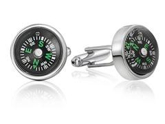 SD Man Compass Cufflinks