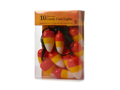 10 Candy Corn Lights Set