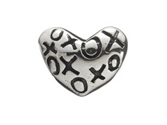 Sterling Silver Heart w/ XO