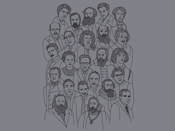 guess who, science edition t shirt