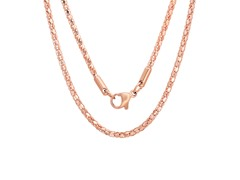 18kt Rose Gold Plated Round Necklace