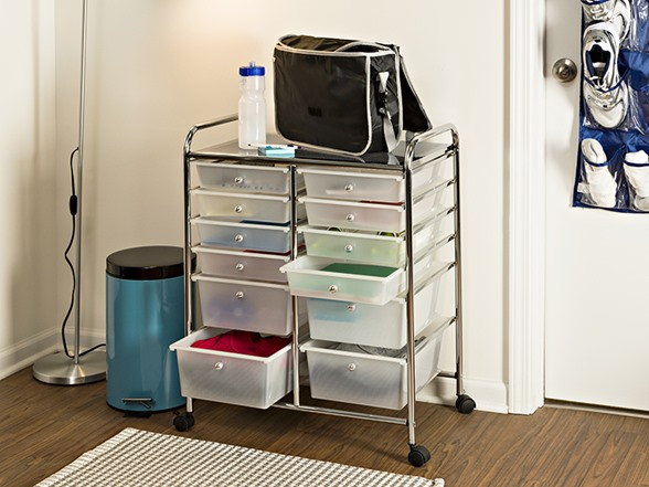 Honey Can Do 12 Drawer Rolling Cart