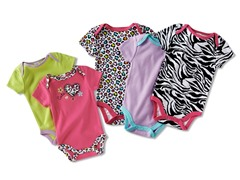 5-Pk Bodysuits - 5 Choices (0M-6M)