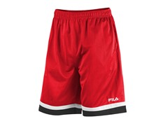 Fila Men's Workout Shorts, Red/Black (S)