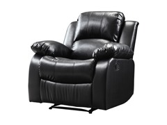 Bonded Leather Black Recliner