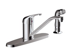 Faucet with Side Sprayer, Chrome