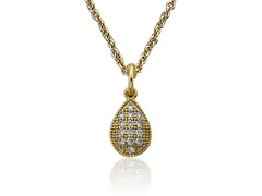 Riccova Retro Layering 14K Gold Plated Necklace CZ Teardrop Charm