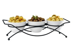 Set of 3 Bowls with Stand