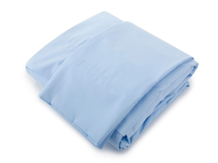 380TC Percale Sheet Set - Blue - Queen