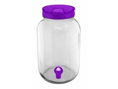 1 Gallon Purple Colored Lid Beverage Dispenser