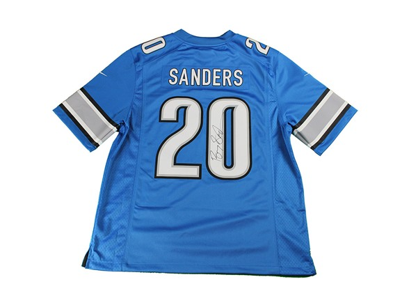 separation shoes 8148e 87209 Barry Sanders Signed Jersey