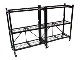 Origami 3-Shelf Steel Storage Rack, 2-Pack